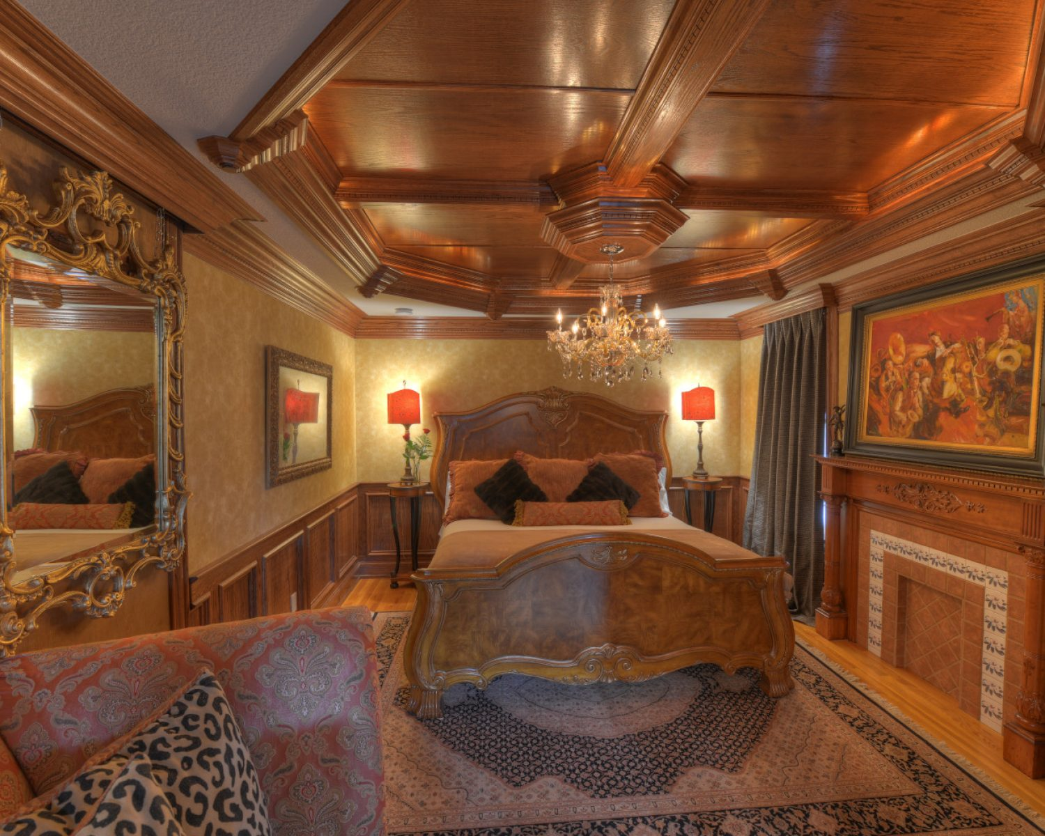 View of the king size bed